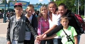víťazný tím v Disneylande