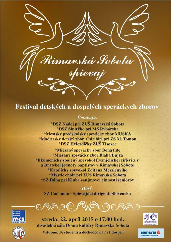 Rimavská Sobota spievaj - festival @ Divadelná sála Dom kultúry Rimavská Sobota | Rimavská Sobota | Slovenská republika