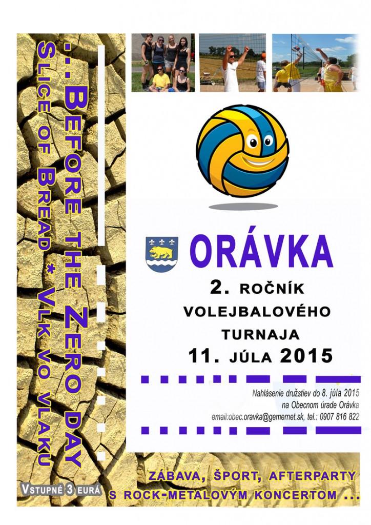 Volejbalový turnaj ORÁVKA + rockový koncert @ Orávka