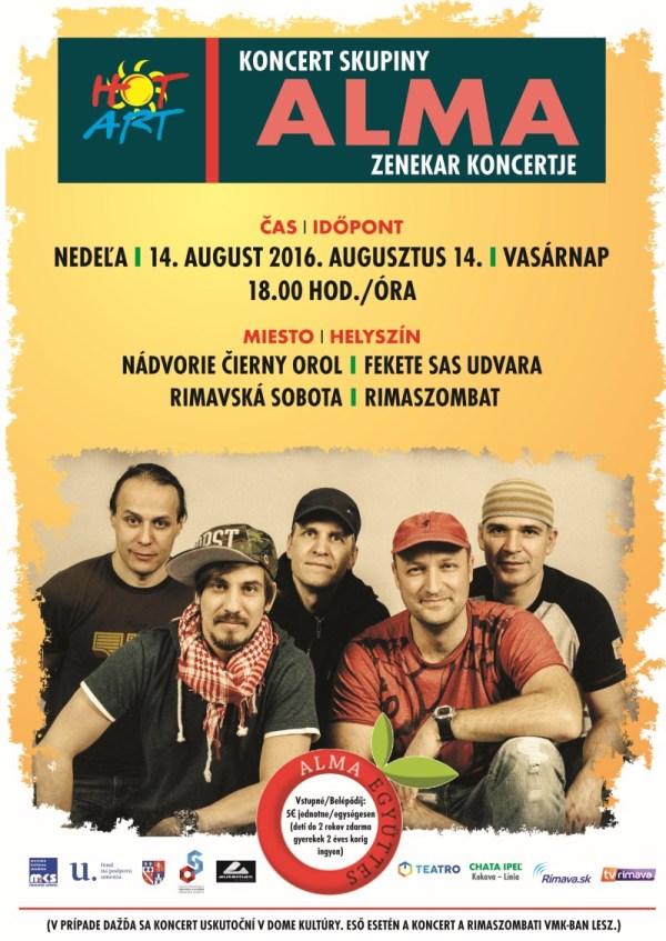 Koncert Alma Zenekar @ Nádvorie Čierny orol | Rimavská Sobota | Slovensko