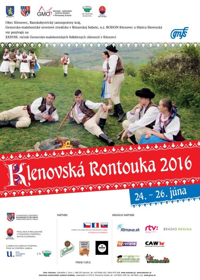 Klenovská Rontouka - 38. ročník Gemersko - malohontských folklórnych slávností @ Klenovec - Kultúrny dom | Klenovec | Slovensko