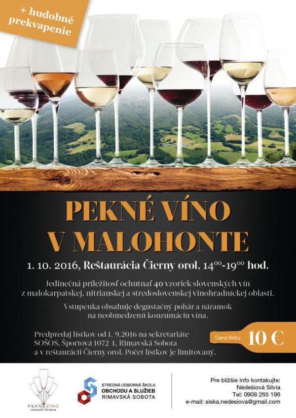 Pekné víno v Malohonte @ Reštaurácia Čierny orol | Rimavská Sobota | Slovensko