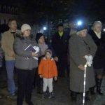 Zažatie prvej sviečka na adventnom venci na Hlavnom námestí