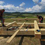 Rozhľadňa Tachty počas výstavby