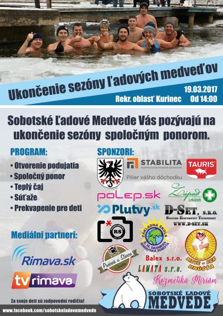 Ukončenie sezóny Sobotských ľadových medveďov @ Rekreačná oblasť Kurinec   Slovensko