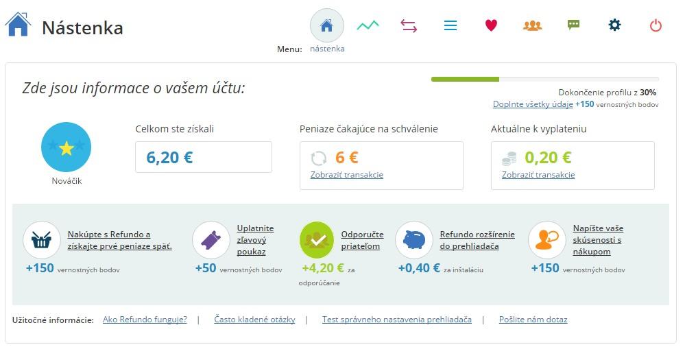 Refundo.sk - skúsenosti a recenzia cashback portálu  0f9518e7535