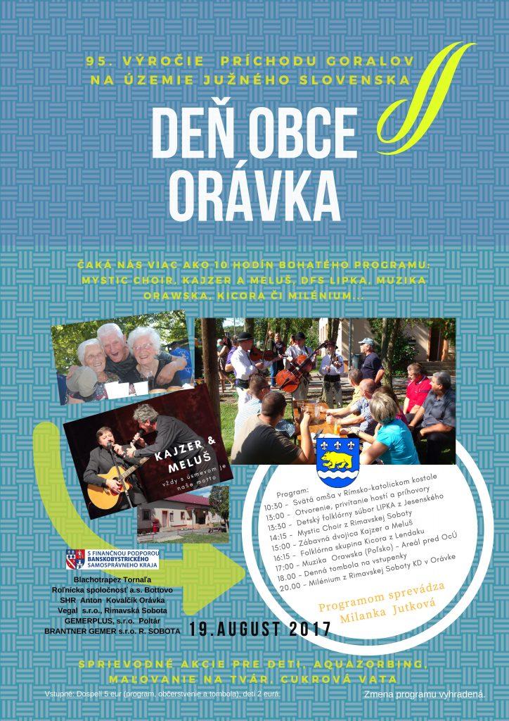 Deň obce Orávka