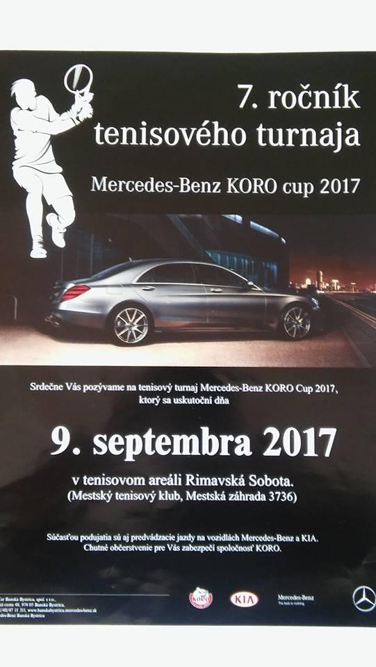 Mercedes-Benz KORO cup 2017 @ Tenisový areál Mestská záhrada R. Sobota | Rimavská Sobota | Slovensko