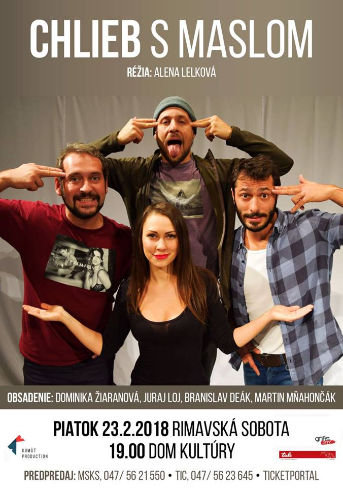 Chlieb s maslom - komédia @ Divadelná sála Domu kultúry Rimavská Sobota | Slovensko