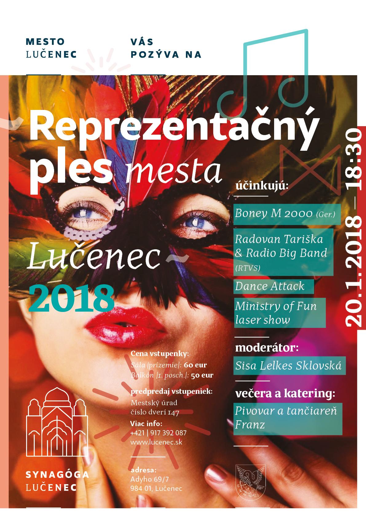 Reprezentačný ples mesta Lučenec 2018 @ Synagóga Lučenec