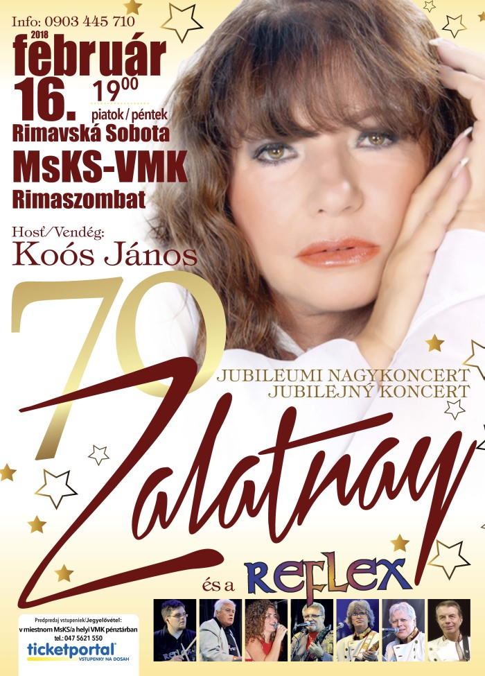 Zalatnay 70 - Jubilejný koncert @ Mestské kultúrne stredisko Rim. Sobota | Banskobystrický kraj | Slovensko