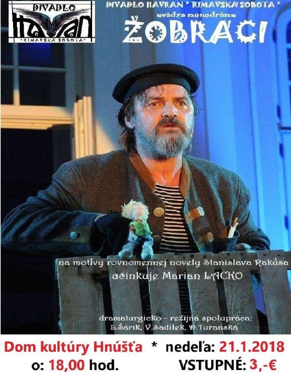 Divadelné predstavenie Žobráci @ Dom kultúry, Hnúšťa