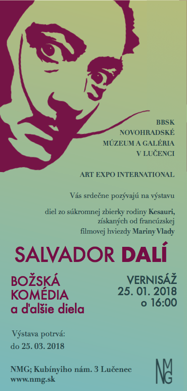 Salvadora Dalí - Božská komédia a ďalšie diela @ Novohradské múzeum a galéria | Banskobystrický kraj | Slovensko