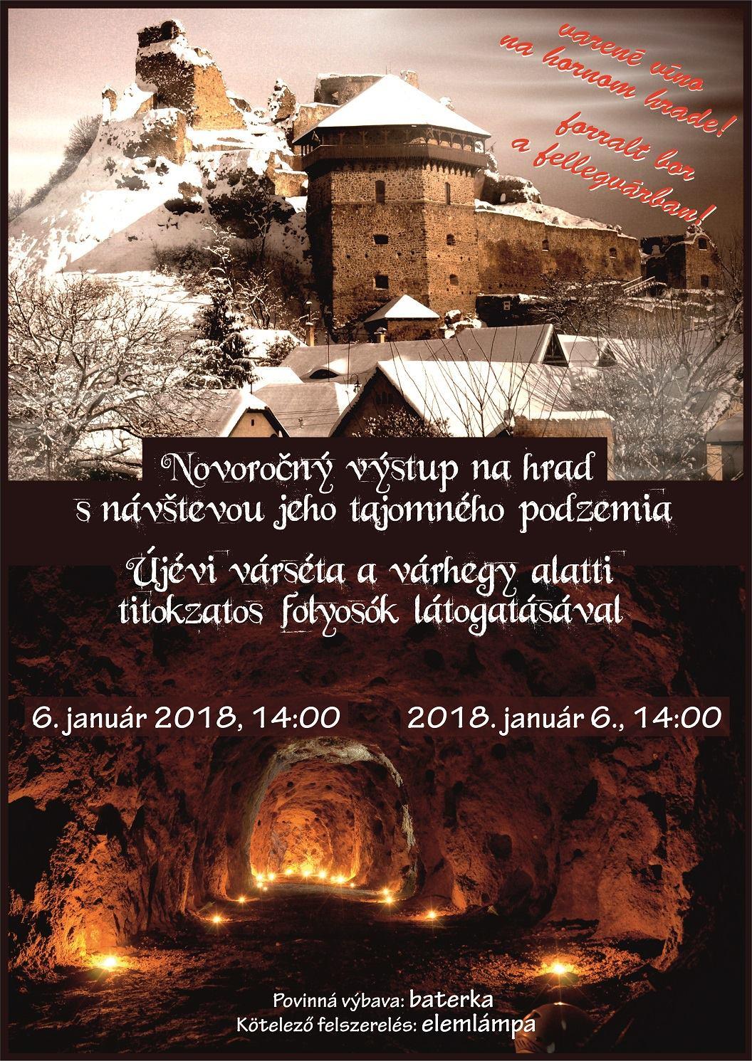 Novoročný výstup na hrad @ Fiľakovo