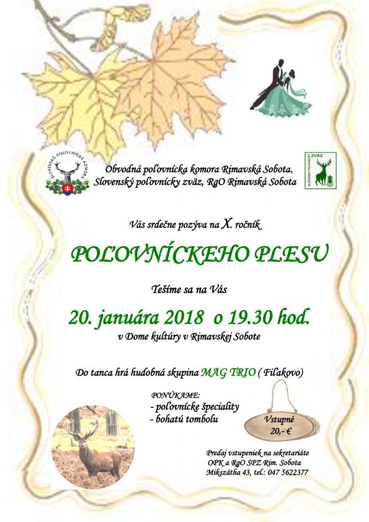 X. Poľovnícky ples @ Dom kultúry v Rimavskej Sobote | Slovensko