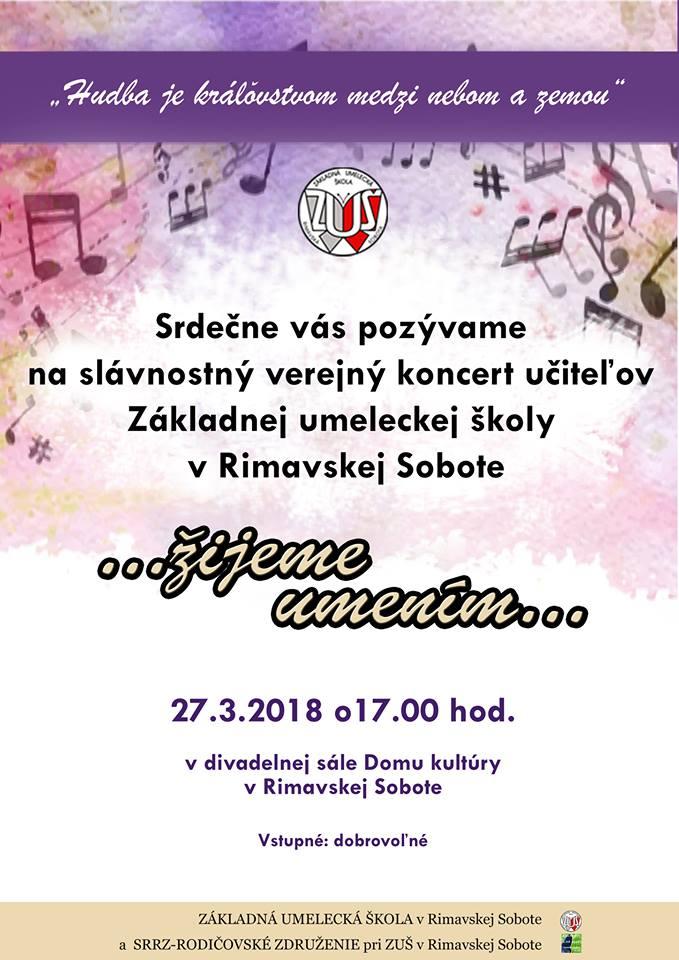 Slávnostný verejný koncert učiteľov Základnej umeleckej školy v Rimavskej Sobotej @ Dom kultúry Rimavská Sobota | Slovensko
