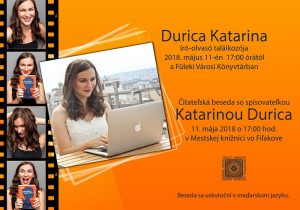Čitateľská beseda s Katarinou Durica @ Mestská knižnica vo Fiľakove   Banskobystrický kraj   Slovensko