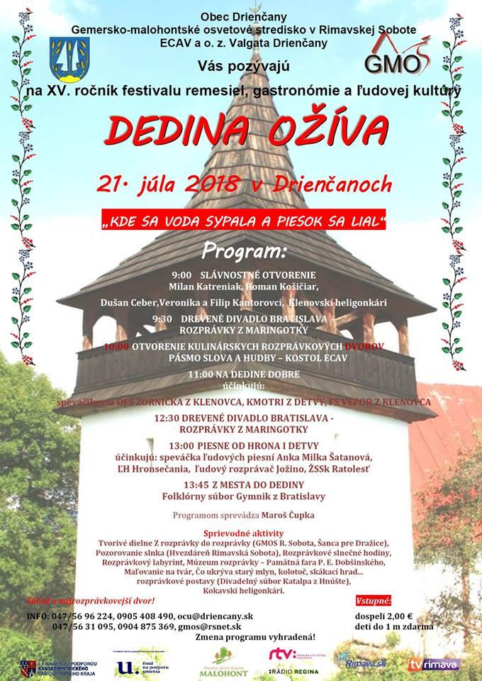 Dedina ožíva - Drienčany @ Drienčany | Drienčany | Banskobystrický kraj | Slovensko