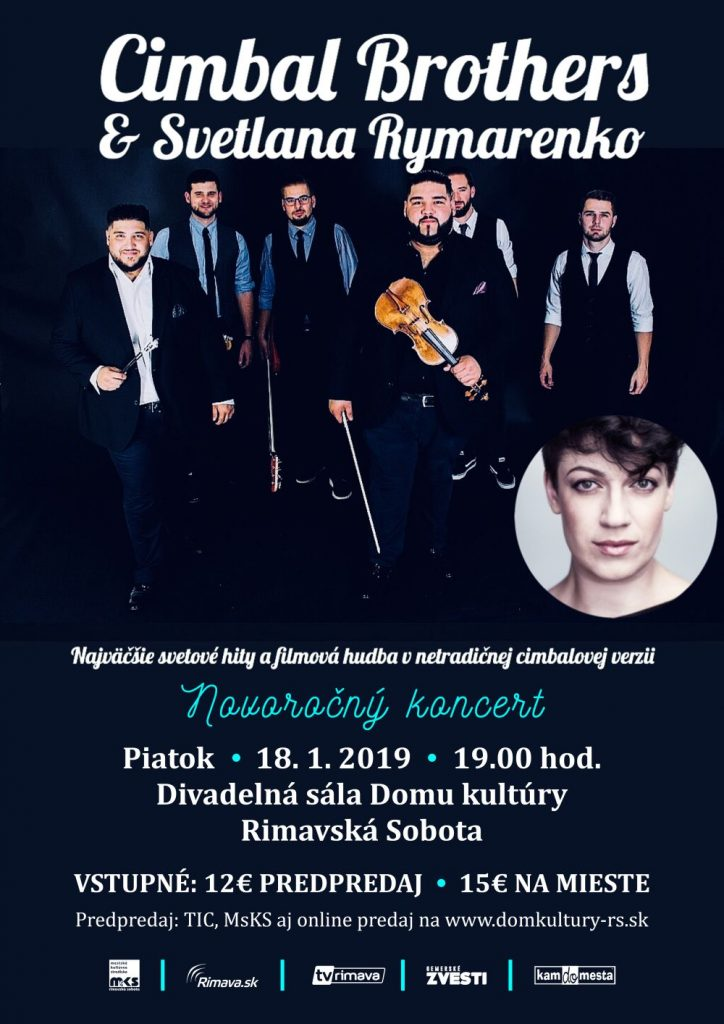 ZRUŠENÉ: Novoročný koncert: Cimbal Brothers a Svetlana Rymarenko @ Divadelná sála Domu kultúry Rimavská Sobota