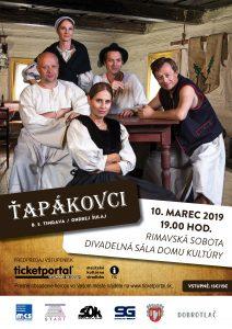 Ťapákovci @ Divadelná sála Domu kultúry Rimavská Sobota, Námestie Š. M. Daxnera, 979 01 Rimavská Sobota