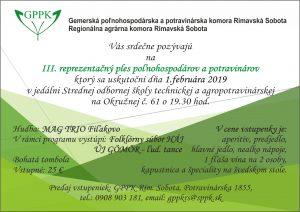 3. Reprezentačný ples poľnohospodárov a potravinárov @ Jedáleň Strednej odbornej školy technickej a agropotravinarskej na Okružnej č. 61
