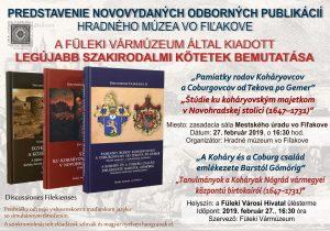 Predstavenie nových odborných publikácií Hradného múzea vo Fiľakove zaoberajúcich sa rodinami Koháryovcov a Coburgovcov @ Zasadacia sála Mestského úradu vo Fiľakove