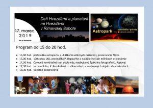 Deň hvezdární a planetárií @ Hvezdáreň, Rimavská Sobota