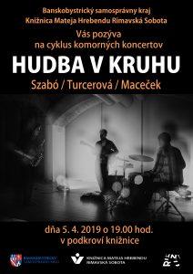 Hudba v kruhu 2019: Szabó / Turcerová / Maceček (SK/CZ) @ Knižnica Mateja Hrebendu, Hlavné námestie 8, Rimavská Sobota 97901