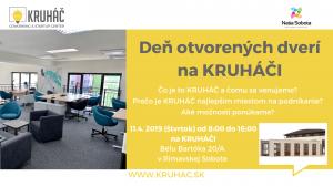 Deň otvorených dverí na KRUHÁČI @ KRUHÁČ coworking & stastup center