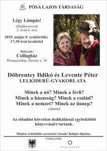 Döbrentey Ildikó és Levente Péter lelkiderű-gyakorlata / Prednáška v maďarskom jazyku @ Csillagház / Hviezdny dom, Rimavská Sobota, Daxnerova ulica č.36