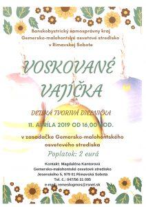 VOSKOVANÉ VAJÍČKA @ Gemersko-malohontské osvetové stredisko v Rimavskej Sobote, Jesenského 5, 979 01 Rimavská Sobota