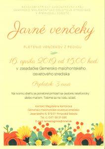 JARNÉ VENČEKY @ Gemersko-malohontské osvetové stredisko v Rimavskej Sobote, Jesenského 5, 979 01 Rimavská Sobota