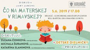 Čo na materskej v Rimavskej? @ KRUHÁČ coworking & startup center, Bélu Bartóka 20/A, 979 01 Rimavská Sobota