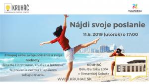 Nájdi svoje poslanie @ KRUHÁČ coworking & startup center, Bélu Bartóka 20/A, 979 01 Rimavská Sobota