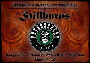 Koncert kapiel MOTORSCREAM ( tribute to Motorhead ) a STILLBURNS @ KONGO Pub, Rimavská Sobota