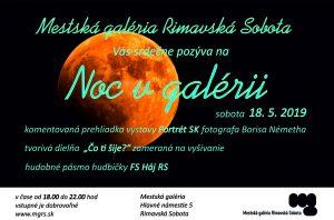 Noc v galérii @ Mestská galéria, Hlavné námestie 5, Rimavská Sobota 979 01