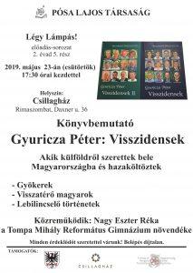 Gyuricza Péter: Visszidensek/Predstavenie knihy v maďarskom jazyku @ Csillagház / Hviezdny dom, Rimavská Sobota, Daxnerova ulica č.36