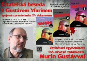 Čitateľská beseda s Gustávom Murínom @ Mestská knižnica, Hlavná 14, Fiľakovo