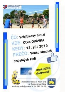 VOLEJBALOVÝ turnaj ORÁVKA @ Obecný úrad Orávka