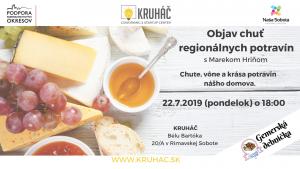 Objav chuť regionálnych potravín @ KRUHÁČ coworking & startup center, Bélu Bartóka 20/A, 979 01 Rimavská Sobota