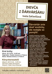 Krst najnovšej knihy fiľakovskej rodáčky Ivety Zaťovičovej @ Mestská knižnica, Hlavná 14, Fiľakovo
