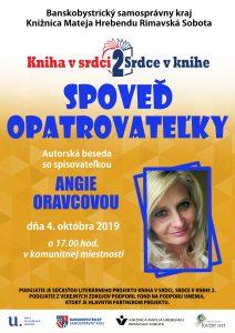 Spoveď opatrovateľky @ Knižnica Mateja Hrebendu Rimavská Sobota, Hlavné námestie 8, Rimavská Sobota 97901