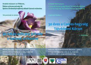 """Výstava """"30 rokov ochrany prírody v Cerovej vrchovine"""" vo Fiľakove @ Fiľakovo, Mestské vlastivedné múzeum, Hlavná 14"""