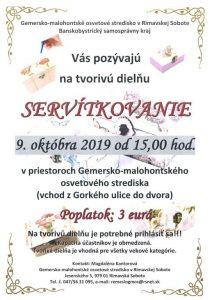 SERVÍTKOVANIE @ Gemersko-malohontské osvetové stredisko v Rimavskej Sobote, Jesenského 5, 979 01 Rimavská Sobota