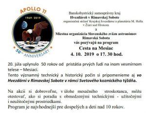 50. výročie letu Apolla 11 @ Hvezdáreň, Rimavská Sobota
