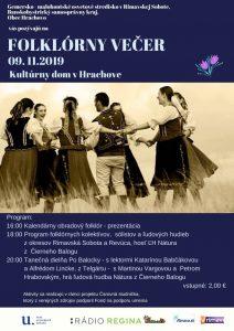 Folklórny večer @ Kultúrny dom v Hrachove