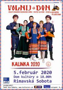 Kalinka 2020 @ Divadelná sála Domu kultúry Rimavská Sobota, Námestie Š. M. Daxnera, 979 01 Rimavská Sobota