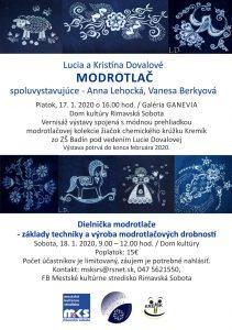 Modrotlač - výstava a dielnička @ Galéria Ganevia, Dom kultúry, Rimvská Sobota