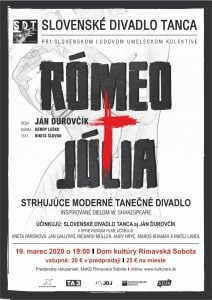 Rómeo a Júlia @ Divadelná sála Domu kultúry Rimavská Sobota, Námestie Š. M. Daxnera, 979 01 Rimavská Sobota