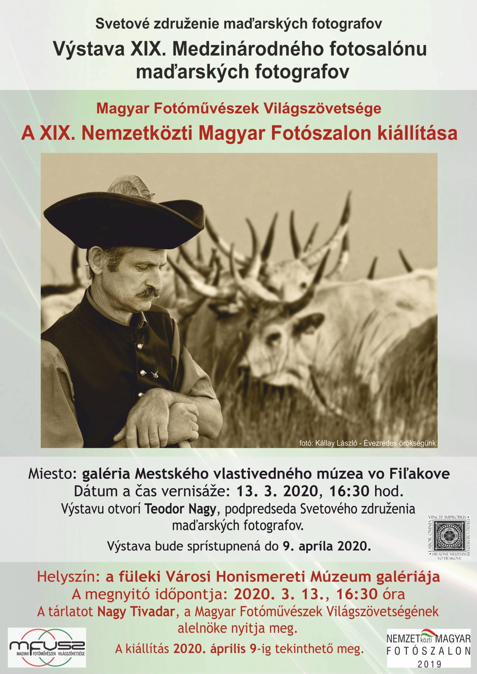 """ZRUŠENÉ:Otvorenie výstavy s názvom """"XIX. Medzinárodný fotosalón maďarských fotografov"""" @ Mestské vlastivedné múzeum, Hlavná ul. 14"""